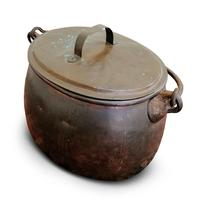 Large Antique Copper Couldron with Lid & Handle (7 of 7)