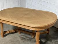 Huge Bleached Oak French Extending Dining Table (13 of 24)