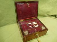 Unisex Rosewood Fitted Jewellery – Dressing Box. c1835 (12 of 12)