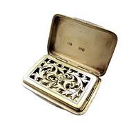Antique Victorian Sterling Silver Vinaigrette 1856 (2 of 11)