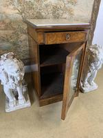 Single Burr Walnut Cabinet with Marble Top (5 of 7)
