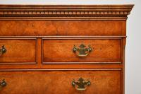 Antique Burr Elm Chest on Chest of Drawers (10 of 10)