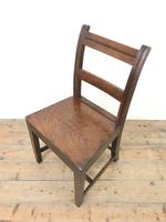 Set of Six Welsh Oak Farmhouse Kitchen Chairs with Bar Backs (6 of 9)