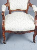 Antique Pair of French Rosewood Armchairs (17 of 19)