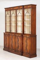Regency Style 4 Door Breakfront Mahogany Bookcase (8 of 9)