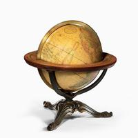 12 inch Franklin terrestrial table globe by Nims & Co, New York