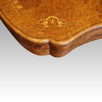 Victorian Serpentine Burr Walnut Card Table (7 of 12)