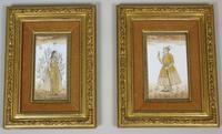Good Pair of 19th Century Indian Paintings Aurangzeb & Dilras Banu Begum