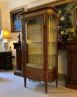 Exceptional 19th Century French Kingwood Parquetry Gilt Metal Vitrine Display Cabinet (6 of 17)