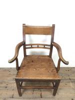 Antique 19th Century Welsh Oak Farmhouse Chair (3 of 10)