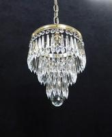 Italian Art Deco three Tier Crystal Glass Chandelier (5 of 5)