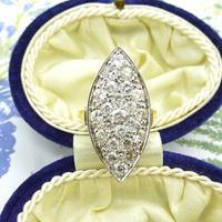 Stunning Vintage 18ct Gold Marquise Diamond Cluster Ring 1.65ct ~ With Independent Appraisal / Valuation (9 of 10)