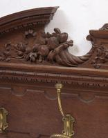 Victorian Oak Wall Hanging Coat Rack (3 of 3)