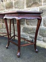 Pair of Oriental Chinese Marble Top Console Tables (8 of 12)
