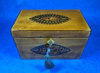 Late 18th Century Fruitwood and Applewood Twin Tea Caddy (11 of 21)