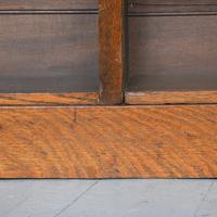 Large Victorian Oak Open Bookcase (8 of 8)