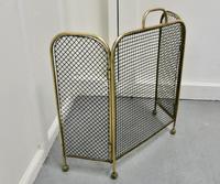 Victorian Folding Brass Fire Guard (5 of 5)