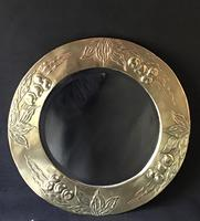 Arts and Crafts Brass Repousse Wall Mirror