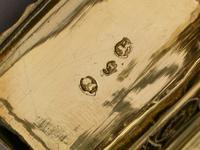 George III Finely Engraved Parcel Gilt Vinaigrette, by Matthew Linwood, Birmingham, 1818 (10 of 10)