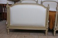 Pretty Pair of Matching French Newly Upholstered Single Beds (4 of 8)