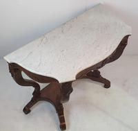 Pair of 19th Century Marble Topped Walnut Console Tables (3 of 9)