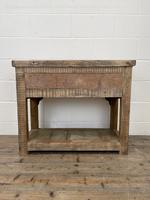 Rustic Wooden Sideboard with Two Drawers (10 of 10)