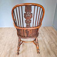 19th Century Yew Wood Windsor Chair (4 of 4)