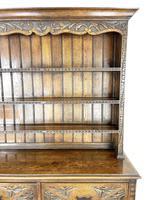 Decorative Antique Carved Oak Dresser (6 of 10)
