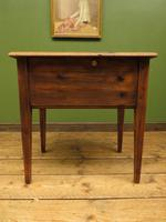 Small Rustic Antique Pine Table with Fall Front (11 of 17)