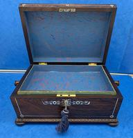 William IV Rosewood Sarcophagus Box with Inlay (8 of 13)