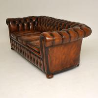 Antique Victorian Style Deep Buttoned Leather Chesterfield Sofa (3 of 8)