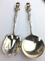 """Sterling Silver Canadian Servers """"Enamel"""" with Indian Motifs Available Worldwide (5 of 11)"""