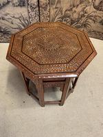 Early 20th Century Brass Inlaid Hoshiarpur Table (2 of 7)