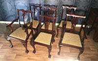 Set of six Edwardian Mahogany Dining Chairs (2 of 11)