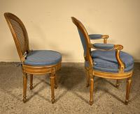 Set Of 12 Chairs And Two Armchairs Louis XVI 18th Century (3 of 11)
