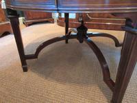 Fine Antique Figured Mahogany  'Sunburst Top' Coffee Table (3 of 6)
