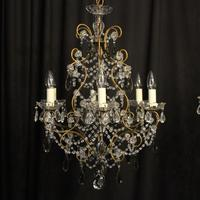 French Pair of Six Light Antique Chandeliers (2 of 10)