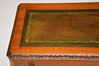 Antique Burr Walnut Leather Top Writing Table / Desk (8 of 10)