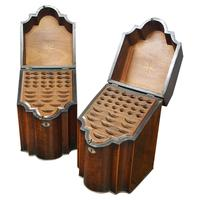 Pair of George III Inlaid Mahogany Cutlery Boxes (2 of 9)