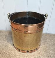 Late 19th Century Brass & Copper Bucket (7 of 9)