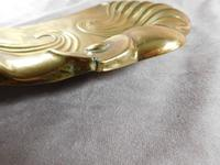Art Nouveau, Embossed Brass Crumb Tray & Brush (7 of 8)