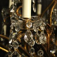 Italian Gilt & Crystal 22 Light Antique Chandelier (4 of 10)