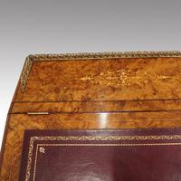 Victorian Antique Inlaid Walnut Davenport (8 of 13)