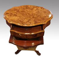 Victorian Oval Walnut Work Table (3 of 8)