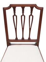 19th Century Mahogany Dining Bedroom, Hall Chair (5 of 6)
