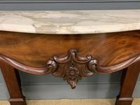 Victorian Mahogany Marble Topped Console Table (11 of 11)