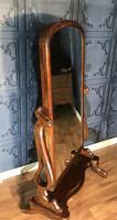 Victorian Walnut Cheval Mirror (9 of 12)