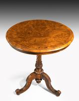 Mid 19th Century Small Burr Walnut Occasional Table (4 of 4)