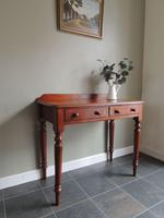 Beautiful Antique Edwardian Mahogany Side Table with Drawers