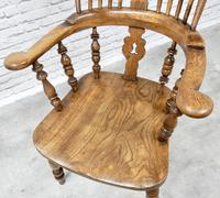 Antique Broadarm Windsor Armchair in Ash & Elm (5 of 7)